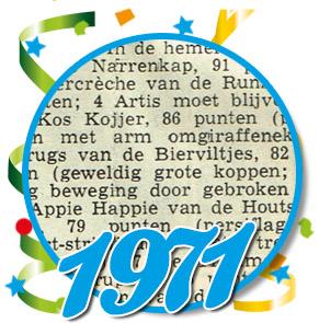 Uitslag optocht 1971 Schaijk