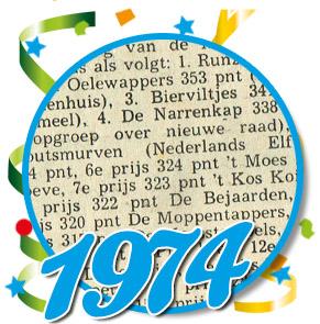 Uitslag optocht 1974 Schaijk