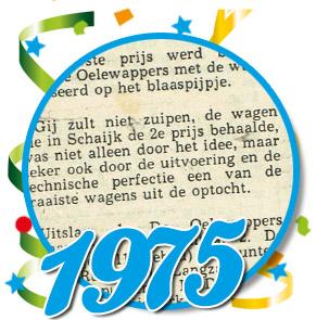 Uitslag optocht 1975 Schaijk
